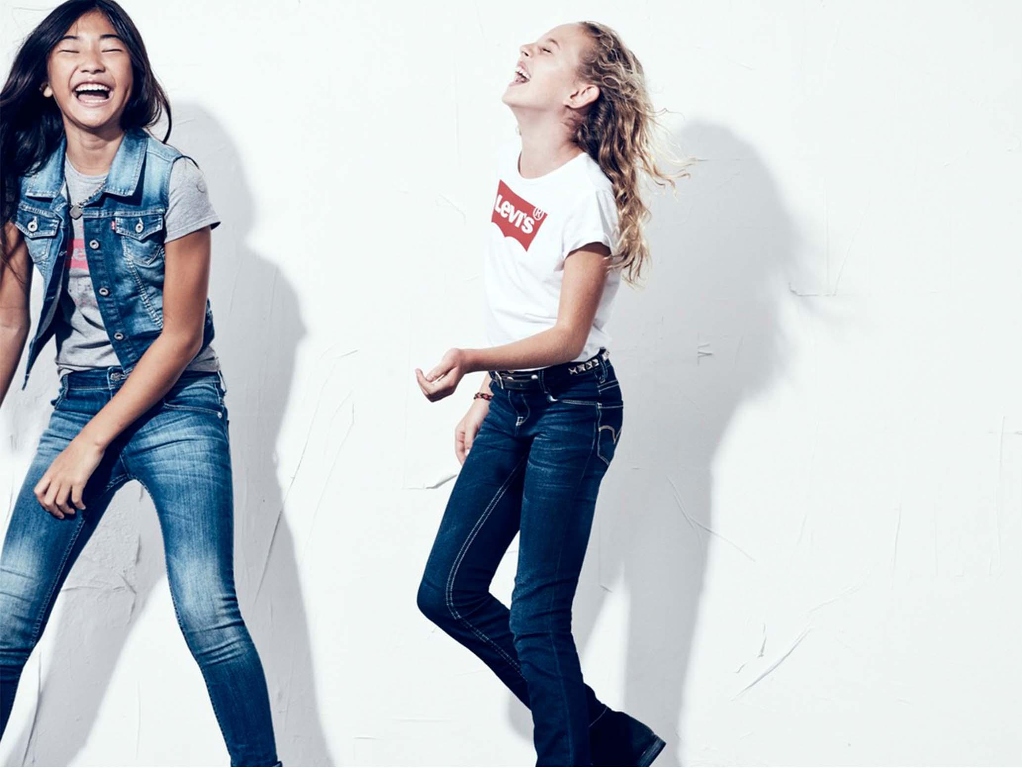 kids denim jeans levi's