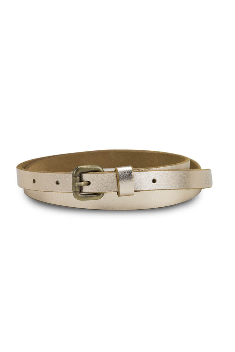 SKINNY METALLIC BELT OV