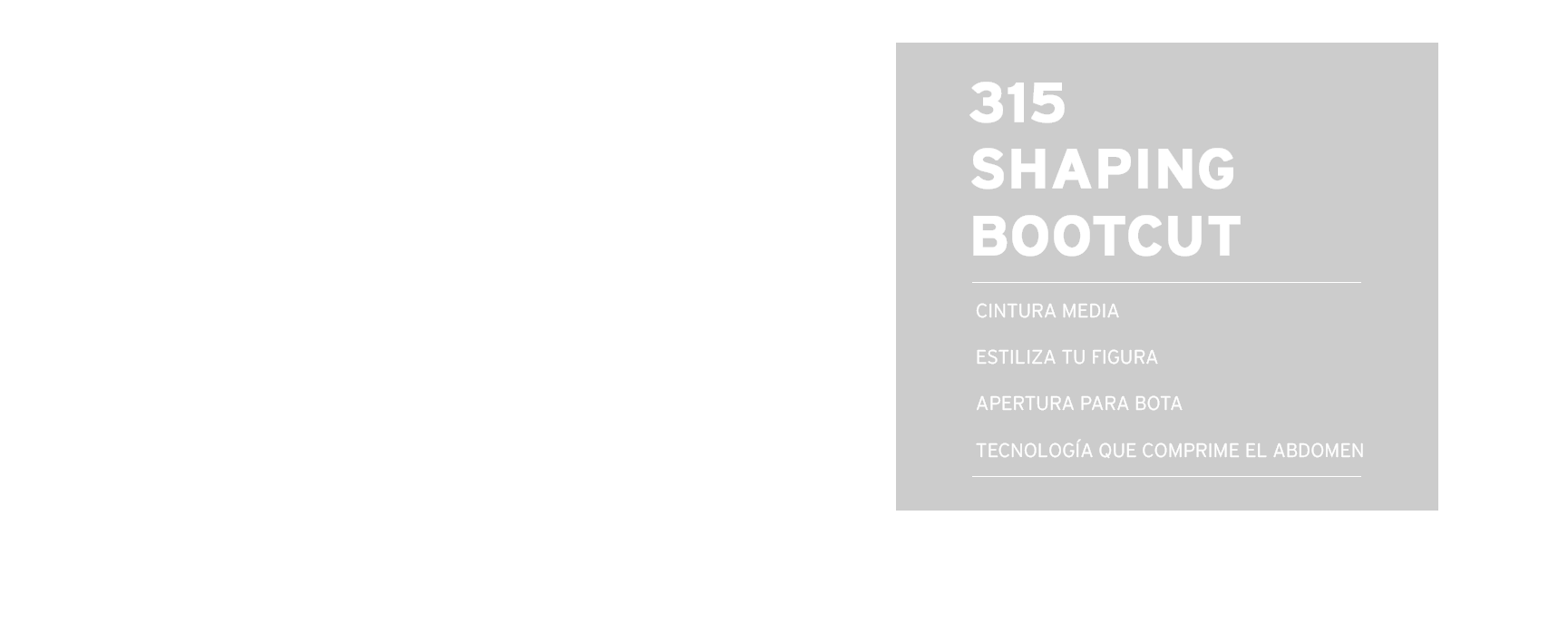 315 shaping bootcut